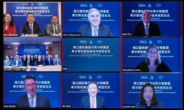 希尔顿与锦江国际集团续签合作协议,开启希尔顿欢朋中国加速发展新篇章